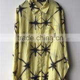 Ladies' New Star Print Cotton Silk Voile Basic Shirt for High Fashion Brands