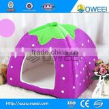 Overstuffed plush fur fabric pet bed lovely dog house in stock