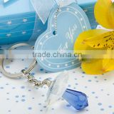 2013 Baby shower party favor gift of Choice Crystal blue pacifier key chains