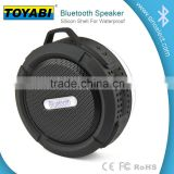 Mini Water Resistant Wireless Shower Speaker, Handsfree Portable Speakerphone with Built-in Mic