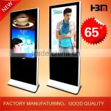 "65""HBM Free Standing Network/Wifi/3G Digital LED/LCD advertising display                                                                         Quality Choice"