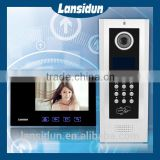 Multi Apartments Video Door Phone With Keypad /ID card Unlocking