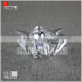 New Products In Market Glass cup/ hot sales design Hand press Pentagram clear glass candle holders