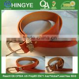 Fashion Gold Color High Gloss buckle with Rhinestion PU Belt --- E1412067