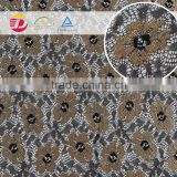 wholesale in stock lace and embroidery samples french net lace fabric for garment