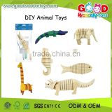 2015 New Animal DIY Painting Toys,Educational Wooden Painting Toys,Kids Popular Painting Toys                                                                         Quality Choice