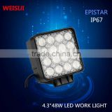 HLE Supplier 4.3inch 12 volt 48 watt automotive led lights for car