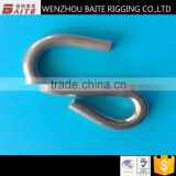 Hot sale stainless steel AISI 304 /316 S hook (40mm long) u shpaed ,S shaped & meat hook.
