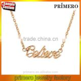 PRIMERO custom stainless steel necklace fashion initial letter pendant
