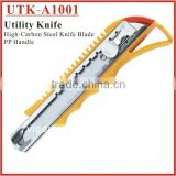 (UTK-A1001) High-Carbon Steel Assist Utility Knife / Utility Cutter