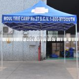 Blue color rain cover folding tent with poles