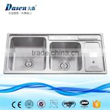 2016 Industrial Double Bowl Apron Front Kitchen Sink With Drainboard