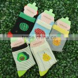 beautiful fruit design fashion cotton socks for women and school girls