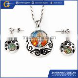ERJS0152 murano glass heavy kundan jewelry set