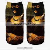 fashion mens styles high quality 3d digital full print colorful ankle socks sports unisex custom hot sale stretch spandex