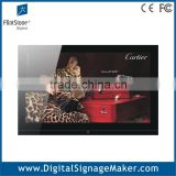 Landscape 1080P HD 32 inch wall mounted wide screen lcd advertising player,media player/ ad player