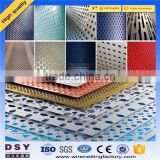 Trade Assurance Perforated Mesh Type and PVC Coated Steel Wire Material metal speaker grill material
