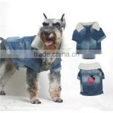 2015 hot Pet Denim jacket dog cooling coat