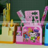 Promotional Cheap School Office Cartoon Stationery Creative Gift Pen pencil Holder Box Set For Children Students kids 6 pieces