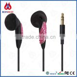 wholesale bling diamond headphones with CE and RoHS