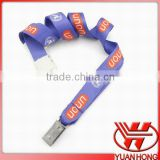 Logo printing custom eco-friendly polyester sublimation neck lanyard with id card holder clip