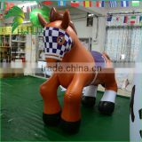 Hongyi 0.4MM PVC Inflatable Horse Toy / PVC Inflatable Toy / Giant Inflatable Horse For Sale