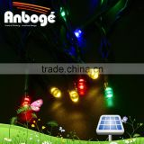5M 50 LED Solar Outdoor String Lights Fairy RGB Decorative Christmas Garden Patio Indoor Party Holiday