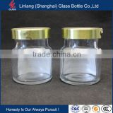 Import glass jars with screw cap for storage food clear mini 25ml bird nest glass bottle