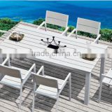 Turin outdoor furniture Alum dining table and chair set