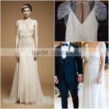 Sheath Fancy illusion crystals heavy beading Wedding Dresses LTG-003