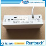 Runtouch RT-M123 White Magnetic card reader for access control security tripod turnstile