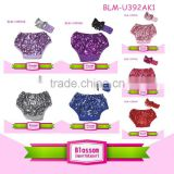 New design children sequin shorts wholesale girls plus size shiny sequin baby bloomers wholesale