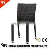 pe rattan chair with alum frame for outdoor stackable rattan furniture GR-R11021
