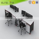 Modern Design Office Workstation For Open Space Aluminum Panel Used Office Partition Wall