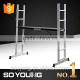Hot sales aluminium walk through scaffolding frames 6063T5 EN131 certificate SGS