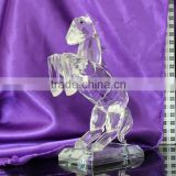 2016 transparent glass christmas decoration rocking horse