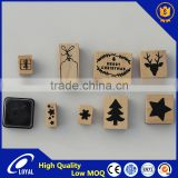 Custom Design Wooden Rubber Stamp for Chrimas Good Reputation Factory Supply