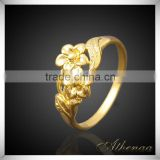 Flower Shape Women Wedding Ring Copper New Design Gold Finger Ring Jewelry