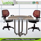 Custom Excellent Quality Round Extending Glass Table