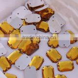 1 Pack Good Price Wholesale 13x18mm Rectangle Sew On Acrylic Stones With Double Holes Plastic Stones With Holes