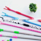 Pvc cover & powder coating Cloth hanger fork with telescopic handle in high quanlity and competitive price