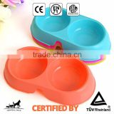 Pet Bone Plastic Dog Food Bowl Colorful Basic Bowl Feeder                                                                         Quality Choice