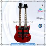sg style 12 string double neck electric guitar sale