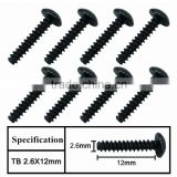 billet machined rc car accessories screws size 2.6*12mm