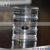 High quality acrylic oil display stands, clear glass paperweight