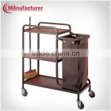 Hotel Room Service Cleaning Trolley With Linen Bag/Housekeeping Cart/Hotel Equipment Supplies