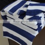 100% Cotton 32S/2 Blue And White Stripe Bath Towel Pool Towel