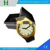 Genuine leather band Wooden watch with your logo