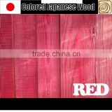 Fashionable and Colorful red color wood with flame-retardant treatment at reasonable prices , various colors available