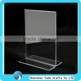 Factory Wholesale Double Sides Clear Menu Holder, Acrylic Label Holders, Vertical Acrylic Sign Holder